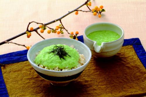 発芽玄米のグリーンとろろ御飯